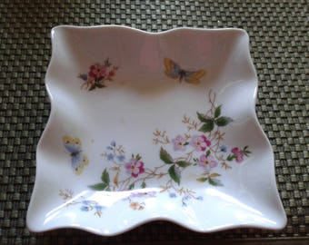 Limoges floral ashtray