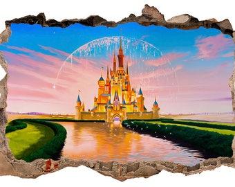Disney Castle 3D Wall Decal Sticker Vinyl Decor Mural