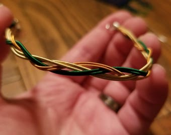 Multi-Color Braided Guitar String Bracelet