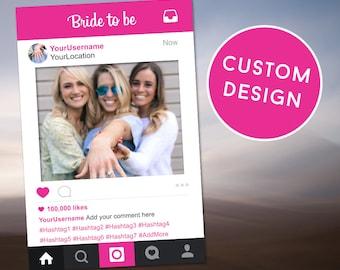 Pink Bridal Shower Frame, Shower Photo Prop, Bridal Shower Decor, Instagram Photobooth, Instagram Frame, Pink Props, Photo Booth Prop