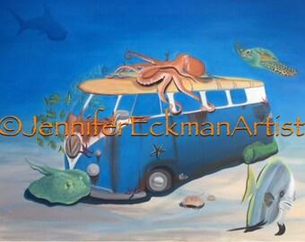 Underwater VW Bus