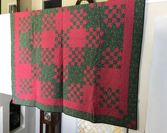 Green and Red Quilt