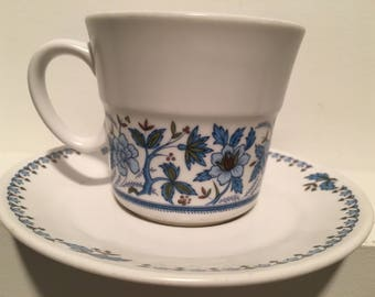 "Noritake Progression China ""Blue Moon"" 3 cup & saucer sets"