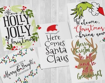 Mixed Christmas Card Set - Pick Your Own