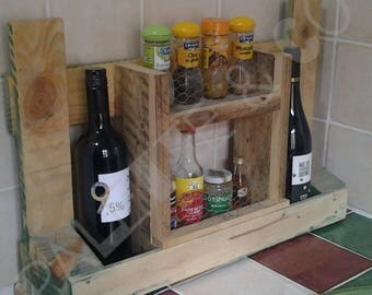 Pallet wood Spice rack and fence