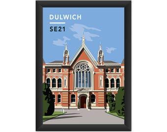 Dulwich College SE21 - Giclée Art Print - South London Poster
