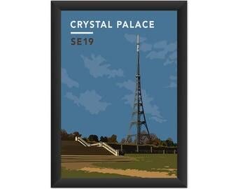 Crystal Palace Transmitting Station SE19 - Giclée Art Print - South London Poster