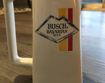 Vintage RARE Ceramic Busch Bavarian Beer Mug 1970s