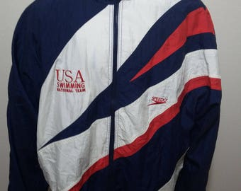 Vintage Speedo USA National Swimming Team Made in USA