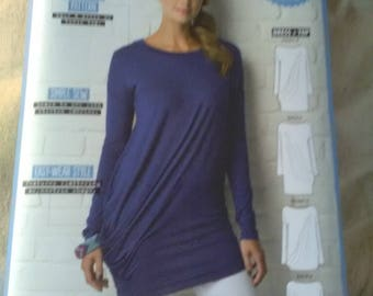 New sewing pattern asymmetrical dress and top tunic jersey knit. Drop set. 6-18
