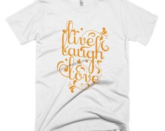 Live Laugh Love Short-Sleeve T-Shirt