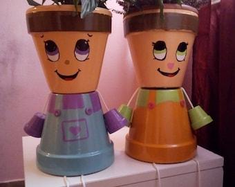 Boy Flower Pot/Fawale pot people/Birthday gift/Indoor Furniture