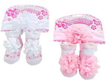 Baby Girl Headband and Socks set age  0-6 months