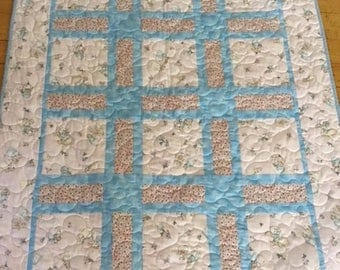 Sweet New Baby Quilt; Baby Quilts, Quilts for Baby Shower, Handmade Quilts
