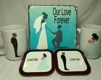 Bride and Groom mugs, Wedding Gifts