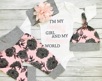 Baby Girl Coming Home Outfit, Newborn Girl Outfit, Baby Girl Coming Home Outfit Winter, Baby Girl, Newborn Girl