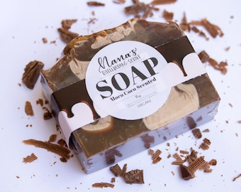 Moco Coco Scented Soap, Chocolate Vegan Soap, Gourmet Chocolate Soap, Chocolate Lover Easter Basket Gift