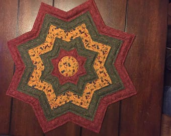 star shaped table topper