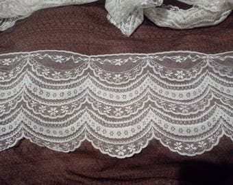 lace polyamide white height 17 cm 1 meter