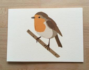 Robin Card, Robin Christmas Card, Xmas Cards, Christmas Cards, Blank Card, Animal Card, Bird Card, All Occasion Cards, Illustrated Card