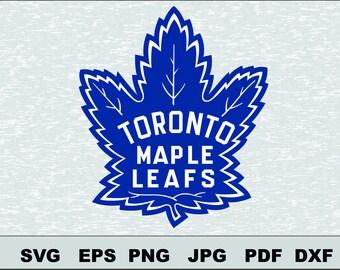Toronto Maple Leafs SVG DXF Logo Silhouette  Silhouette Studio Cameo Cricut Design Template Stencil Vinyl Decal Tshirt Transfer