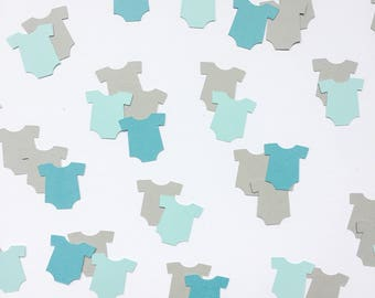 Blue Baby Onesie Confetti, Baby Shower, Confetti