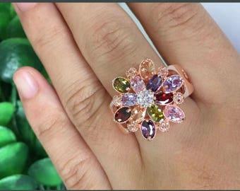 Round cut topaz gemstones 925 Sterling Silver