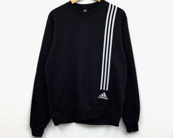 Year End Sale Rare!!! Vintage Adidas Sweatshirt Small logo 3 stripes basic logo Sportwear Pullover Jumper Sweater
