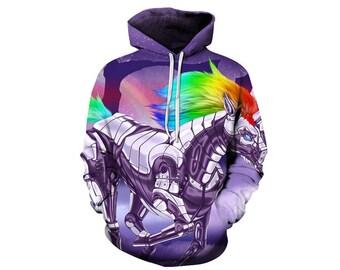 Unicorn Hoodie, Unicorn, Unicorn Hoodies, Animal Prints, Animal Hoodie, Animal Hoodies, Unicorns, Hoodie, 3d Hoodie, 3d Hoodies - Style 3