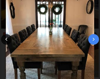 Rustic Thick Spindle Leg Table