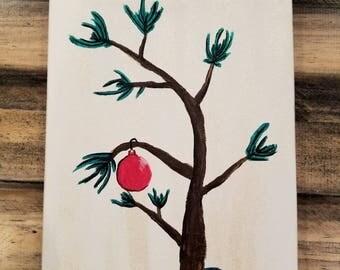 Charlie Brown Christmas Tree painting