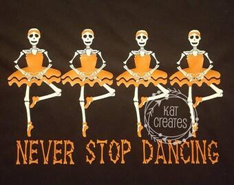 Skeleton Ballerinas SVG file