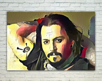 Johnny Depp - Johnny Depp Poster,Johnny Depp  Art,Johnny Depp Print,Johnny Depp Poster,Johnny Depp Merch,Johnny Depp Wall Art,Johnny Depp Fa