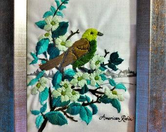 American Robin In Green