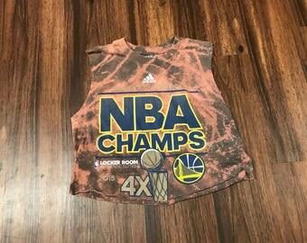 FADED Crop Tank NBA Golden State Warriors