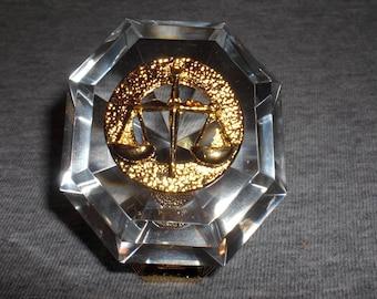 Libra - miniature collectible crystal figurine