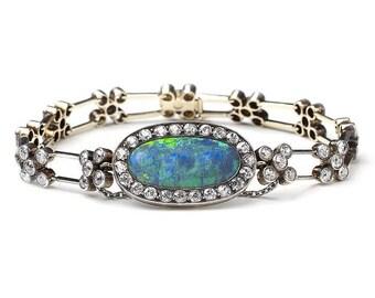 Antique Opal & Diamond Bracelet