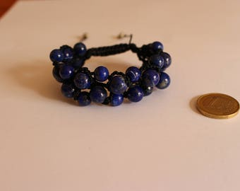 Macrame Bracelet with Blue