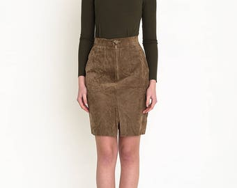 VINTAGE Brown High Waisted Bottom Retro Skirt