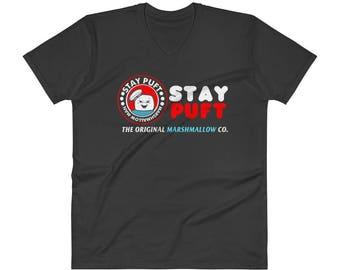 Stay Puft Marshmallow Man V-Neck T-Shirt
