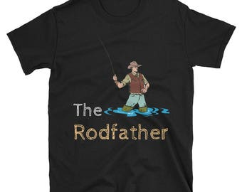 The Rodfather tshirt - Short-Sleeve Unisex T-Shirt For Fishing Fans