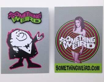 Something Weird Limited Edition Pink/Green Enamel Pin