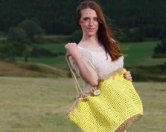 Crochet raffia XXL bag Kit