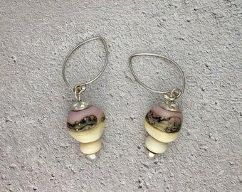 Fine Silver & Lampwork Earrings