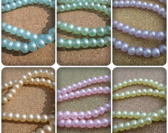 6mm Pastel beads, Pastel glass beads, Glass beads, 6mm, Round beads, Pastel beads, Beads, Pastels, Jewellery making, Crafts, Pastel colours