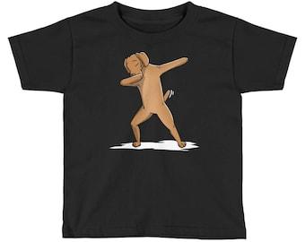 Funny Dabbing Vizsla Kids Short Sleeve T-Shirt
