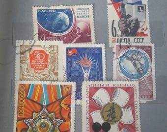 Vintage postage stamps soviet antiques stamps ussr