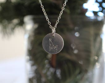 State Pendant Necklace