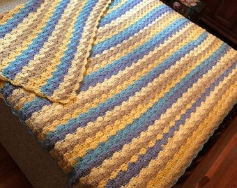 Handmade 100% acrylic afgan/blanket made with love by Donna