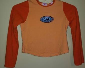 RARE!! Vintage 90's Orange Contrast Top
